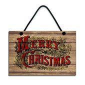 Photo of Frohe Weihnachten Traditonal Weihnachtsdekoration Handgemachte hölzerne Weihnachtsfeiertag Zeichen Plakette 023