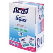 Purell Individually Wrapped Hand Sanitizing Wipes 100 Per Box X