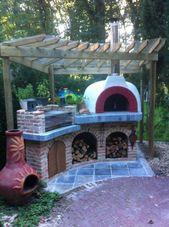 Outdoor-Küche und Pizzaofen