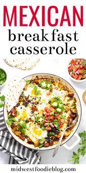 Cazuela De Desayuno Mexicano – Vegetariano   – Healthy Breakfast Recipes