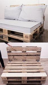 DIY-Anleitung: Upcycling: Palettensofa bauen via D…