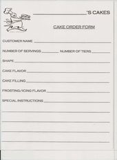 Cake Order Contract  Cupcake Tier Rental Form  Pdf  Pdf  Cake