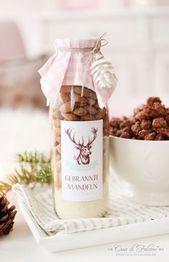 Gebrannte Mandeln mischen in der Flasche   – Geschenke: Ideen & Tipps