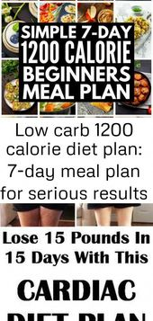 Weight loss has never been easier with our low carb 1200 calorie diet plan! We'v…