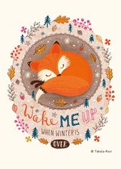 Baby Ilustration Wake Me Up When Winter is Over - Tabula Rosi