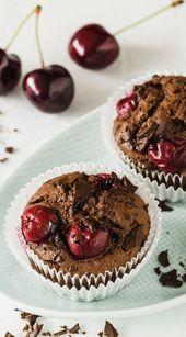 Saftige Schoko-Kirsch-Muffins