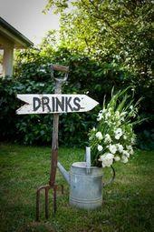 creative and simple garden wedding decor ideas