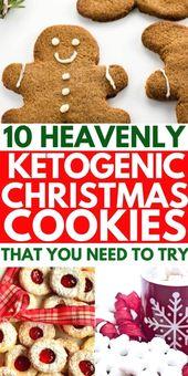 Beste Keto Low Carb Weihnachtsplätzchen, die super einfach zu backen sind
