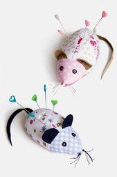Patron de couture Freebie Pincushion Mouse Instructions
