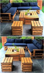 Photo of ▷ 1001 + ideas for garden furniture in pallets + tips for outdoor areas #enbe …