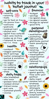 72 Simple Bullet Journal Habit Tracker-Ideen, mit denen Sie noch heute beginnen können!   – diary