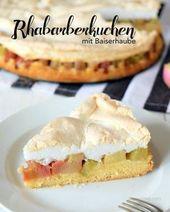Rhubarb cake with meringue topping   – Kuchen