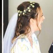 75 Flower crown Ivory hair accessories Wedding hair crown Bridal flower crown Wedding hair accessory White flower crown Rustic wedding