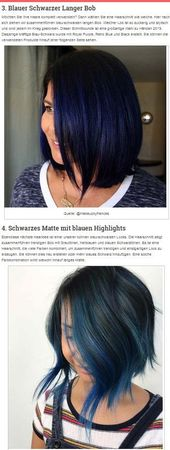 23 Wunderschöne blau-schwarze Haarfarbe-Ideen zum Kopieren – Today Pin
