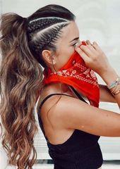 Die erstaunlichsten geflochtenen Pferdeschwanz-Frisuren-Trends für 2018, #Erstaunlich #Zopffrisuren #Frisuren …   – everyday hairstyles