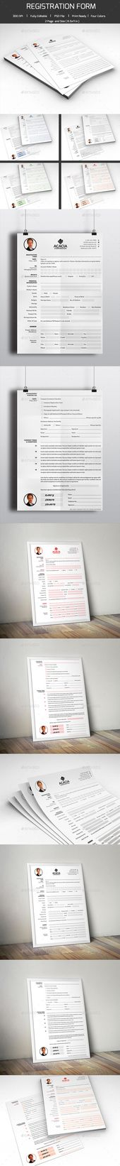 Registration Form Template Registration form, Print templates - registration form