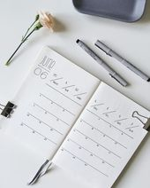 40 Mind blowing Minimilist Bullet Journal Spreads …