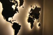 Photo of WORLD MAP FROM Plywood WITH LIGHT in the store