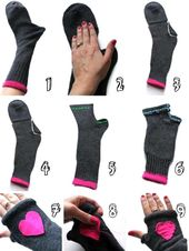 How to make your gloves with socks – #calcetin …