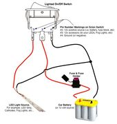 On Off Switch Led Rocker Switch Wiring Diagrams Oznium Automotive Repair Boat Wiring Automotive Electrical