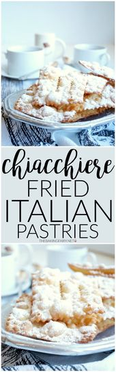 chiacchiere (fried Italian pastries)