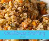 Cauliflower Stuffing for Thanksgiving dinner. Heal…