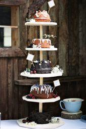 Es muss nicht immer eine klassische Hochzeitstorte sein – warum nicht ein Kuchen …  – Wedding Things