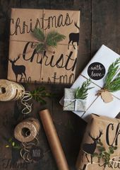 reindeer christmas wrap | thinknoir