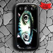 Chesire Cat Art Samsung Galaxy S3 Black Case
