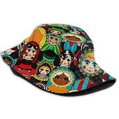 Bucket hat packable reversible russian dolls print sun hat fisherman hat cap outdoor camping fishing safari men women black – Products