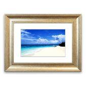 East Urban Home Framed Photographic Print White sand on the paradise island beach Wayfair.de