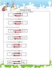 Change Of States Of Matter Worksheet 3rd Grade With Images