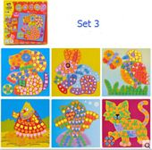 6 Designs pro Set Kinder EVA Mosaik Aufkleber Kinder Kunsthandwerk DIY Tiertransport …