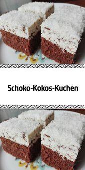 Schoko-Kokos-Kuchen