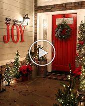 Photo of Kühle 20 wunderschöne Weihnachtsdekorationen im Freien, um die Jahreszeit hell zu machen
