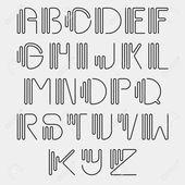 Gebogener Ursprungssatz des Alphabets – 123RF.com
