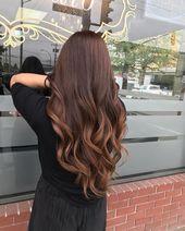 Belles idées de cheveux bruns Balayage, cheveux bruns chocolat, cheveux bruns, … – Haa …   – Happy Haare..!!
