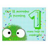 erste Geburtstags-Party Einladung des niedlichen Monsterbabys | Zazzle   – Kids Birthday Party Invitations