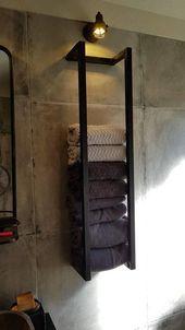 Handtuchhalter im Bad, Ideen Badezimmer, Modernes Bad, Gestaltung Gästebad – #B…