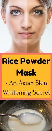 Rice Powder mask : An Asian skin whitening secret – 100% effective