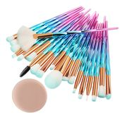 20Pcs Diamond Makeup Brushes Set Powder Foundation Blush Blending Eye shadow Lip…
