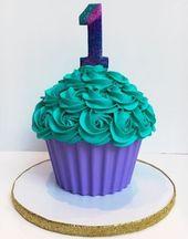Geburtstagstorte Baby Giant Cupcakes 62 Ideen #giantcupcakecakes Geburtstagstorte Baby …