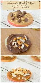 "Apple ""Cookies"" Great way to sneak in some healthy…"