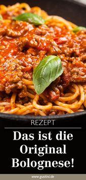 Spaghetti Bolognese – Originalrezept aus Italien