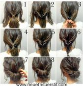 60 EASY 5 MINUTES SHORT HAIRSTYLE IDEAS FOR BUSY LADIES – Hairstyles – Pinner