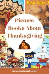 Thanksgiving-Bücher für Kinder im Vorschulalter   – Thanksgiving Preschool and Family Fun