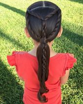 Cute u. Simple summer ponytail hairstyles for little girls #simple …