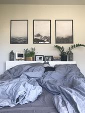 three picture frame idea above living area couch. …