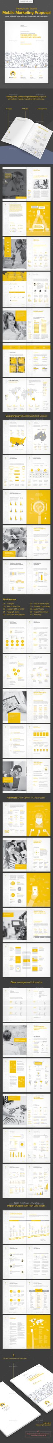 Clean Mobile Marketing Proposal Marketing proposal, Proposal - marketing proposal templates
