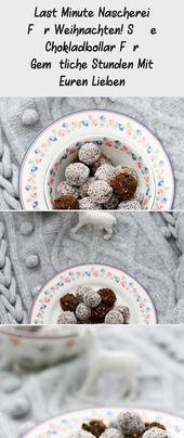 Last Minute Nascherei FÜr Weihnachten! Süße Chokladbollar Für Gemütliche St…